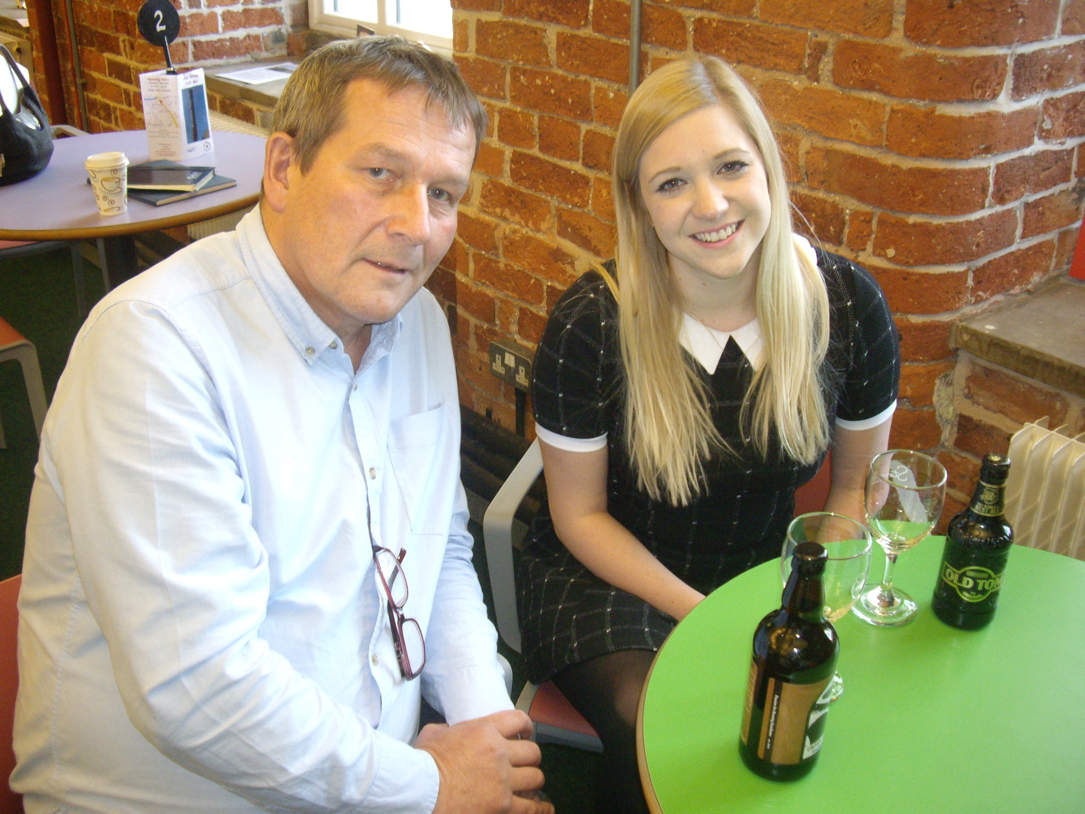 Hat Works Café and Bar owner Ian Mullally with Claire Stott from Orbit Developments