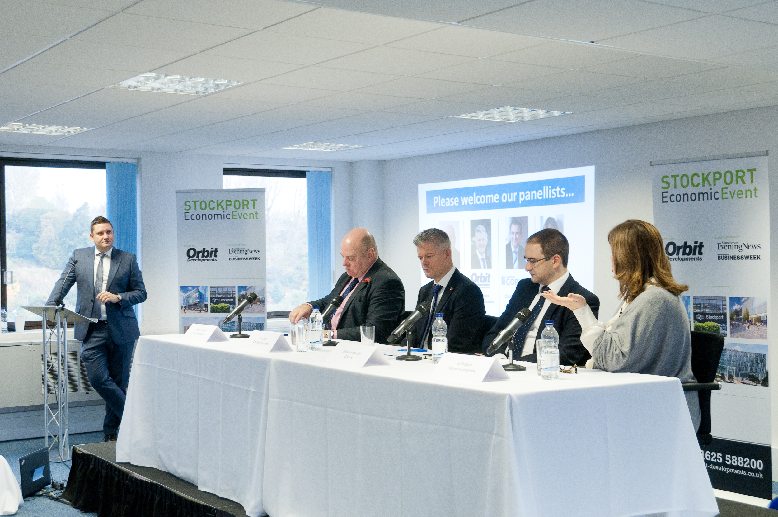 Adam Jupp from the Manchester Evening News posed questions to our panel of experts at the Stockport Economic Breakfast