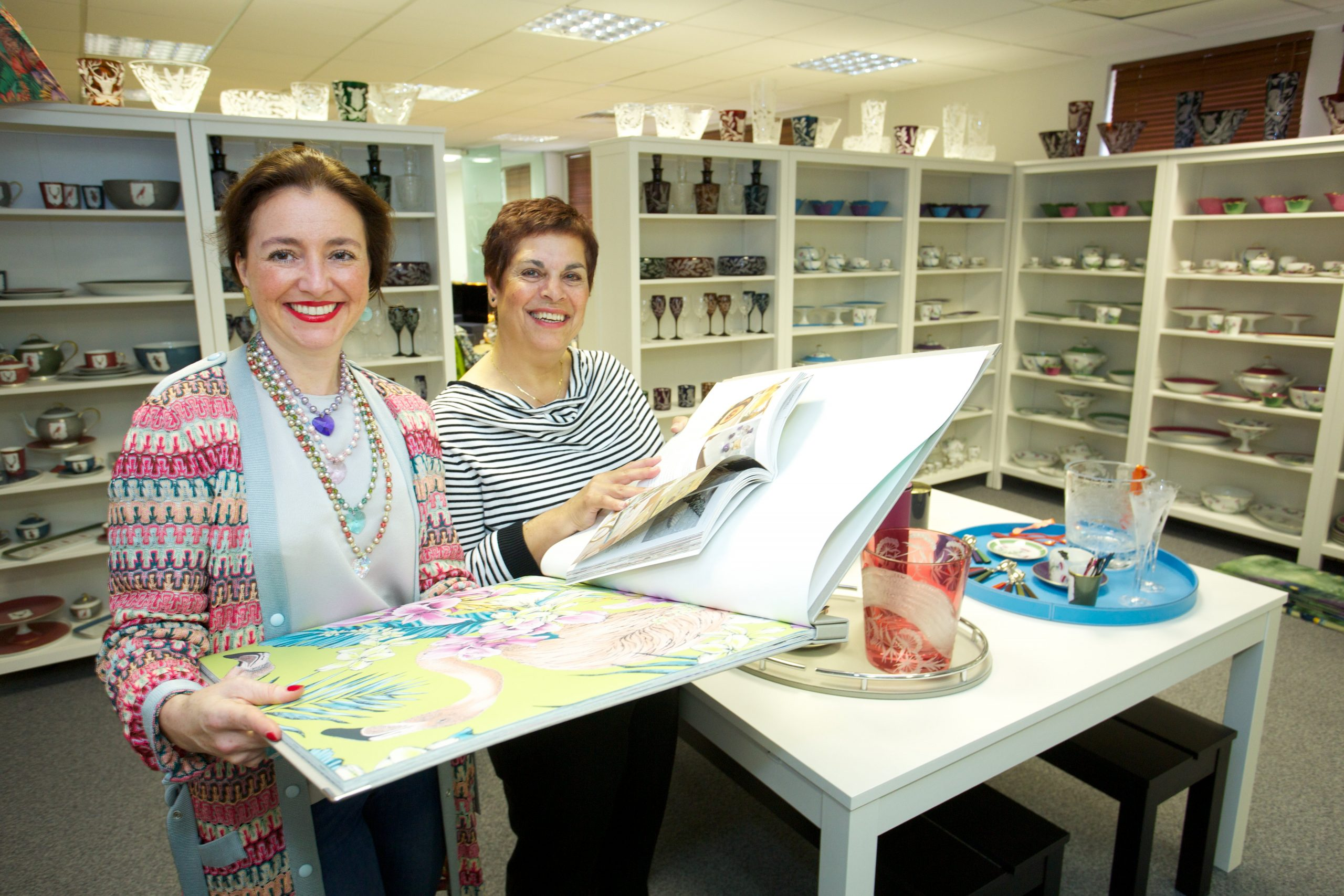 Interior Designer Rachel Bates and Orbit Developments Business Centre Manager Noosh Birch at Tytherington Business Park