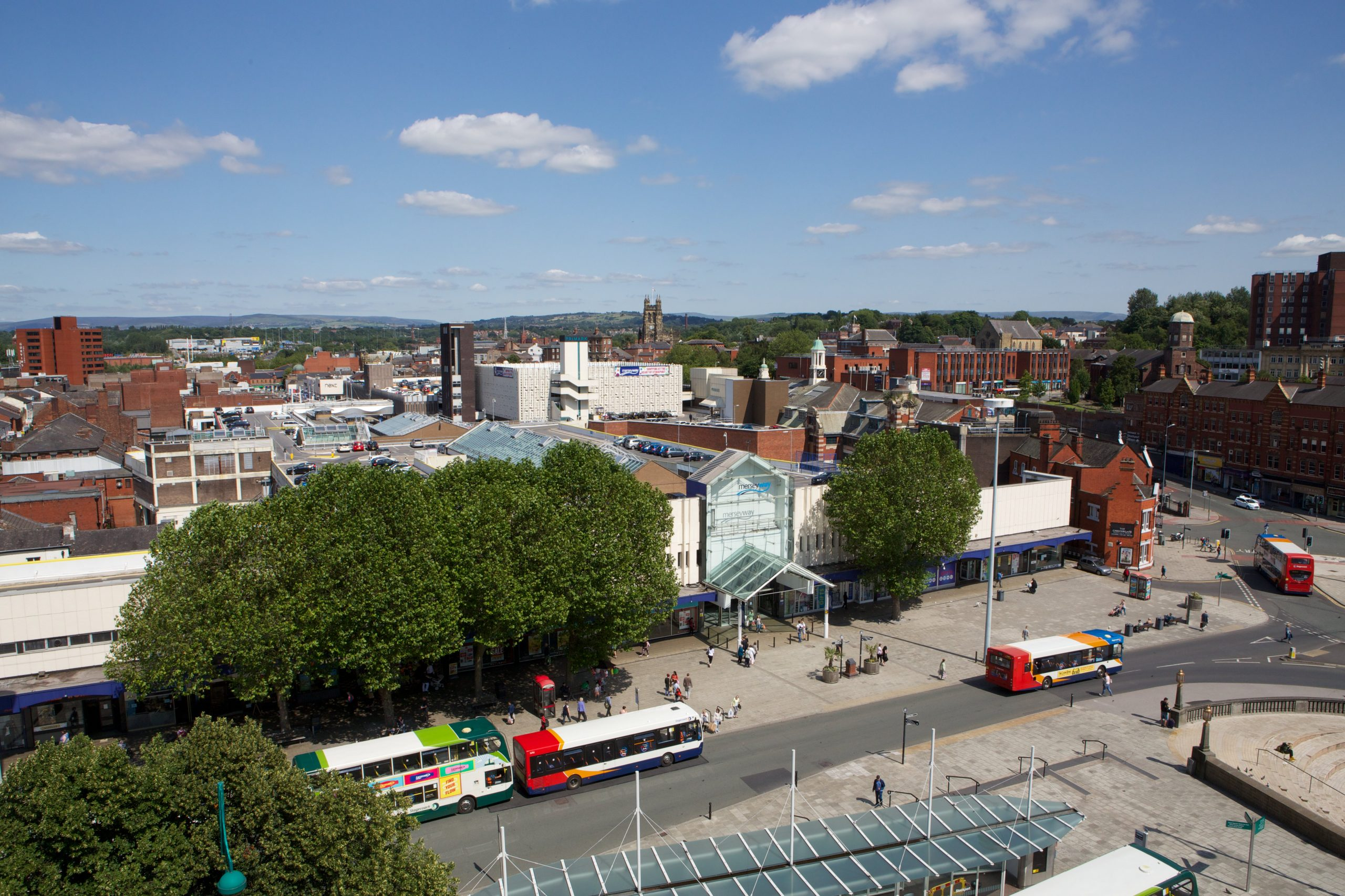 Stockport town centre & Merseyway Shopping Centre
