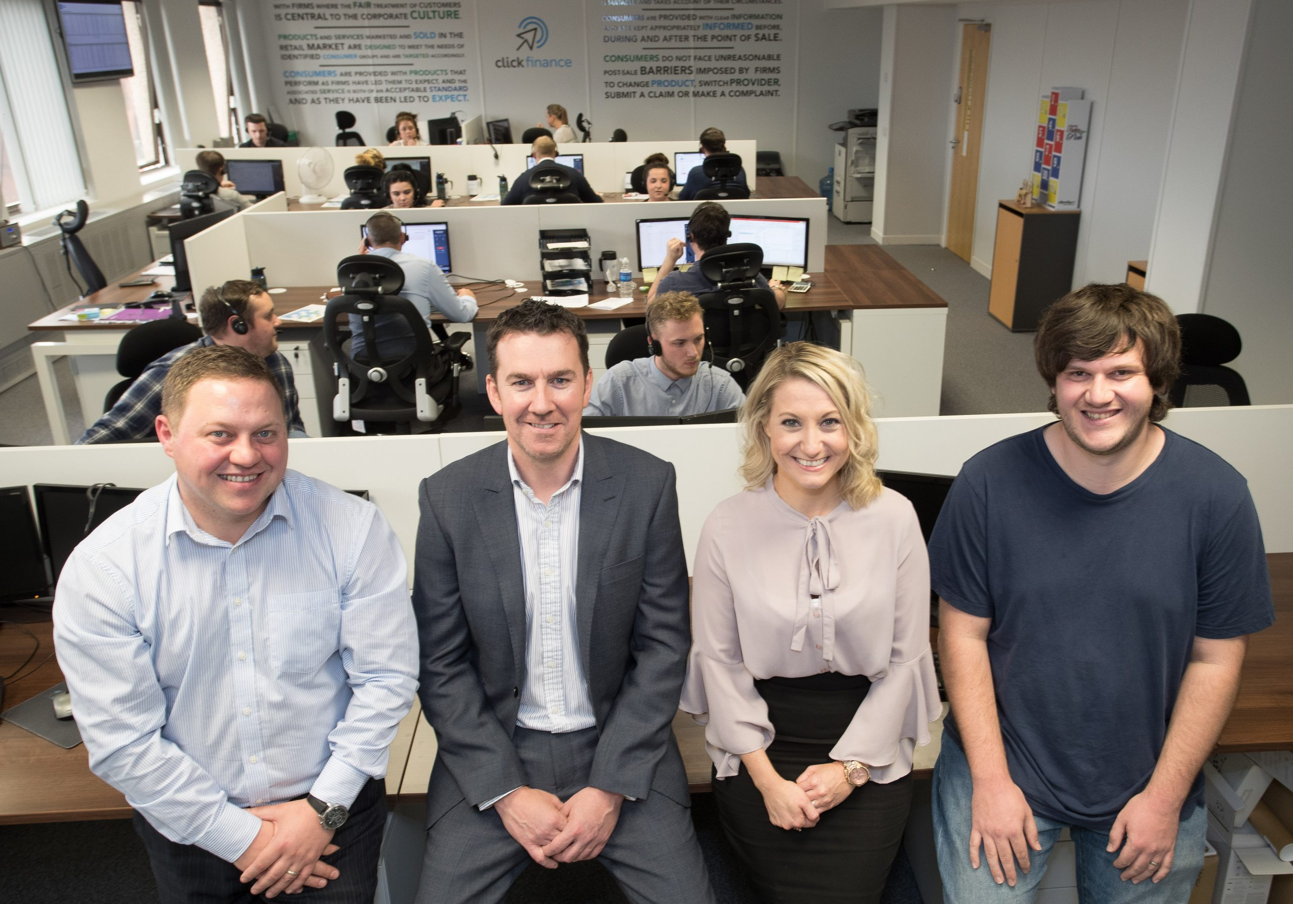 The management team at Click Finance in Regent House, Stockport