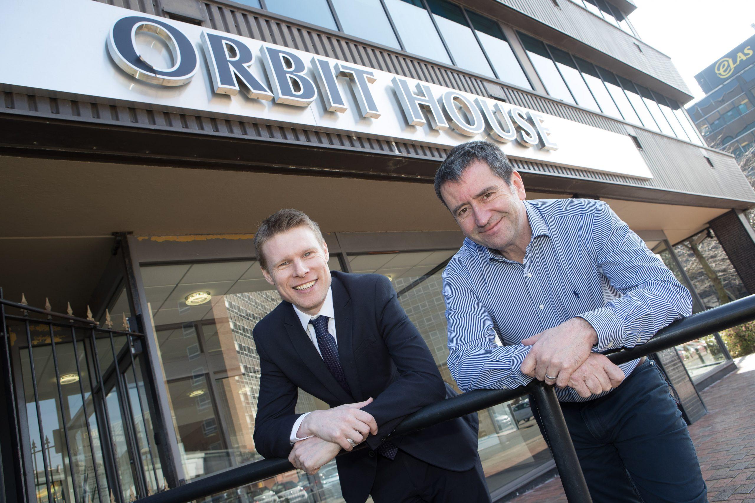 Dean Richards, Leasing Director at Orbit Developments and John Critchley, Director at The Fourth Utility
