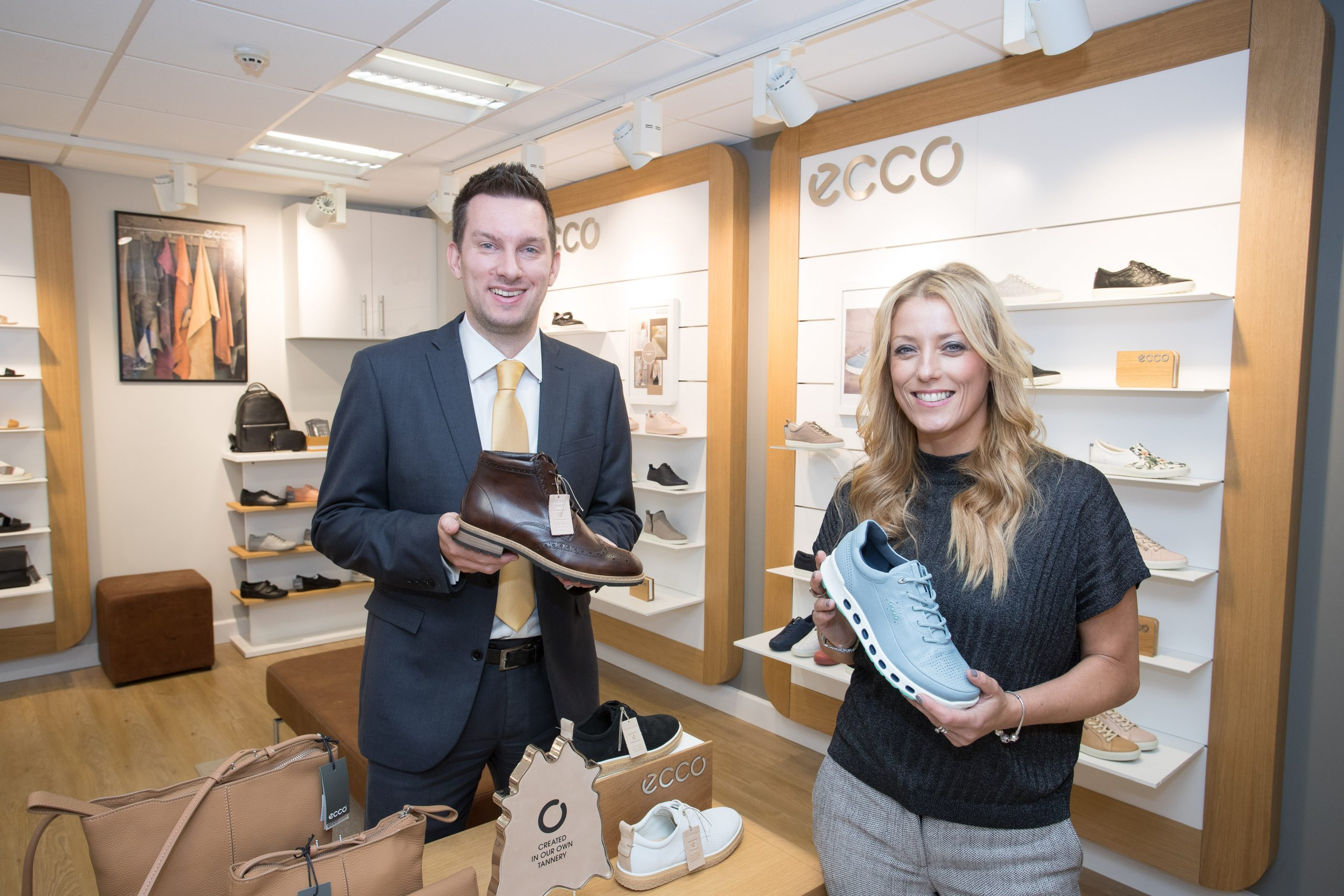 Rhys Owen; Leasing Director for Orbit Developments and Louise Cam; UK Sales Manager for ECCO