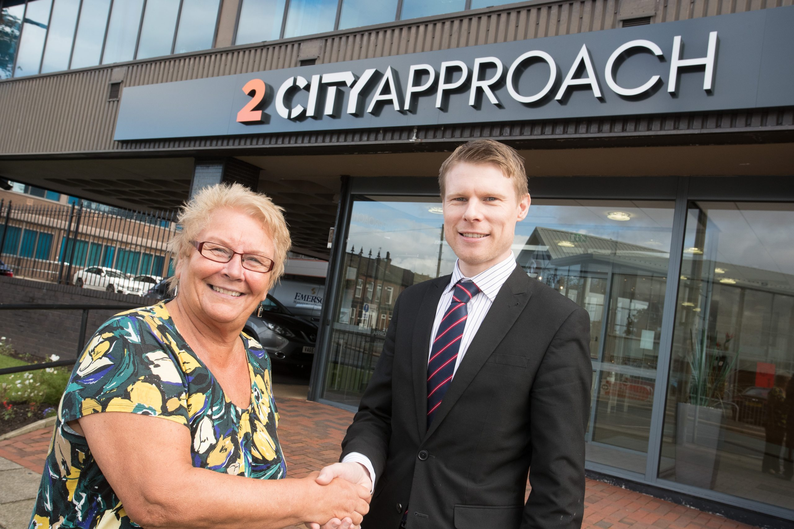 Divisional Office Manager for Swim England North West, Diane Stafford & Leasing Director for Orbit Developments Dean Richards